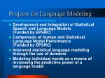 projects for language modeling