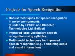 projects for speech recognition