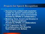 projects for speech recognition1