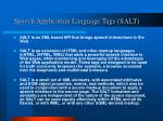 speech application language tags salt