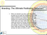 branding the ultimate positioning statement