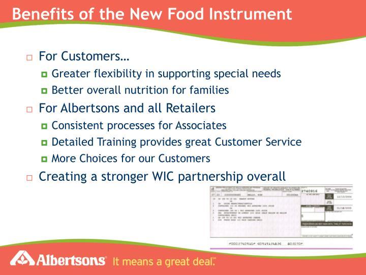 Ppt albertsons llc southwest division powerpoint for Cuisine instrument
