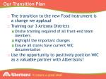 our transition plan