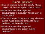 island questions