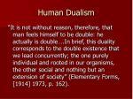 human dualism2