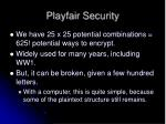 playfair security
