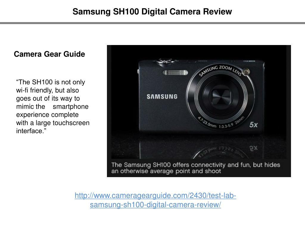 Samsung SH100 Digital Camera Review