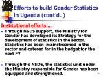 efforts to build gender statistics in uganda cont d1