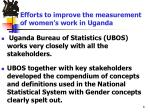 efforts to improve the measurement of women s work in uganda