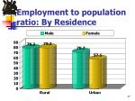 employment to population ratio by residence