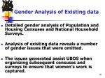 gender analysis of existing data