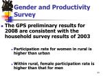 gender and productivity survey1