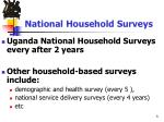 national household surveys