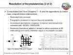 resolution of inconsistencies 2 of 2