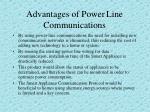 advantages of power line communications