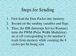 steps for sending