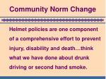 community norm change