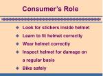 consumer s role