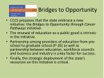 bridges to opportunity