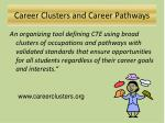 career clusters and career pathways