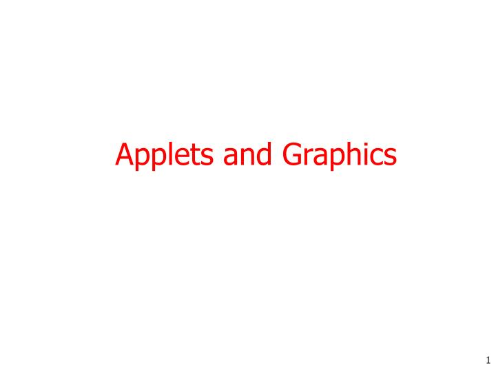 applets and graphics n.