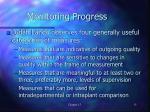 monitoring progress