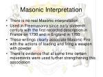 masonic interpretation