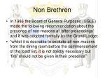 non brethren