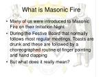 what is masonic fire