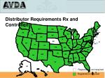 distributor requirements rx and controlled