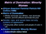matrix of domination minority women