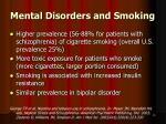 mental disorders and smoking