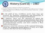 history cont d 1987