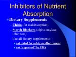 inhibitors of nutrient absorption1