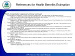 references for health benefits estimation2