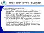 references for health benefits estimation3