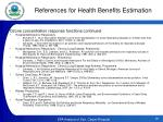 references for health benefits estimation4