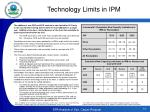 technology limits in ipm