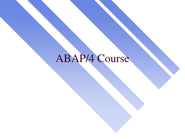 abap 4 course n.