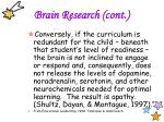 brain research cont