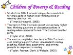 children of poverty reading