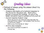 grading ideas