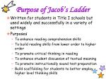 purpose of jacob s ladder
