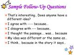 sample follow up questions