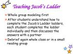 teaching jacob s ladder