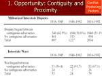 1 opportunity contiguity and proximity