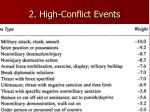 2 high conflict events