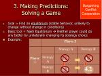 3 making predictions solving a game