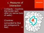 c measures of interaction