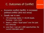 c outcomes of conflict